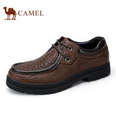 Camel/骆驼男鞋 夏季新款真皮耐磨系带男鞋商务休闲鞋牛皮鞋