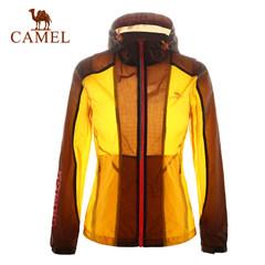 【断码清仓】CAMEL骆驼户外女款皮肤风衣户外时尚拼色女士皮肤衣