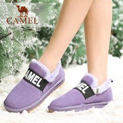 Camel骆驼短靴冬季女鞋女靴绒里女鞋平跟雪地靴