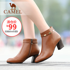 【清仓特价】camel骆驼女靴 时尚休闲女鞋短靴日常休闲棉鞋靴子