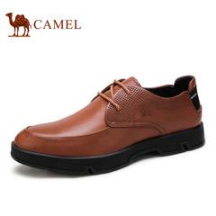 Camel/骆驼男鞋 潮流耐磨牛皮系带时尚休闲鞋 男士皮鞋子