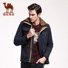 Camel/骆驼男装 新款冬季青年双层领男士青春流行长袖棉服