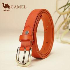 【清仓】Camel骆驼女士牛皮皮带合金针扣细腰带女时尚简约裤带