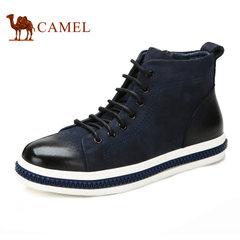 Camel/骆驼男靴磨砂牛皮短靴潮流保暖男靴男鞋真皮品质加保暖男靴