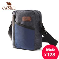 Camel/骆驼新款男士斜挎包大容量休闲运动包斜跨单肩包竖款男背包