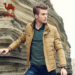 骆驼 新款秋款青年纯色立领商务休闲薄款长袖外套棉服