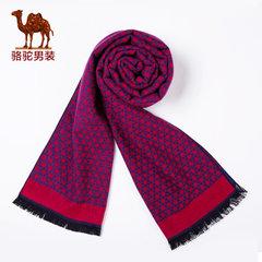 骆驼男装  冬款毛边波点围脖 英伦青年男女通用围巾