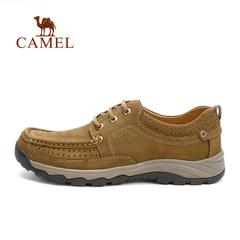 CAMEL骆驼户外男款耐磨徒步休闲鞋  磨砂牛皮男士鞋 正品