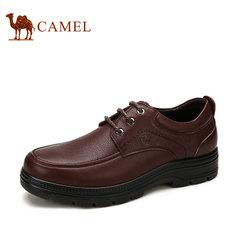 CAMEL骆驼男鞋 真皮商务休闲鞋男系带鞋办公室低帮鞋