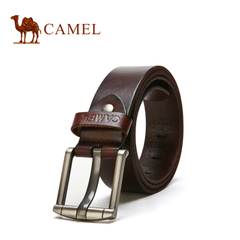 camel骆驼皮带 男士牛皮皮带商务休闲百搭腰带针扣皮带裤带腰带男