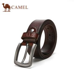 camel骆驼男款皮带 男士牛皮合金扣腰带商务休闲简约潮裤带腰带