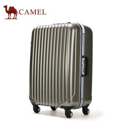 camel骆驼旅行箱 旅行箱简约条纹拉杆箱登机箱大容量万向轮箱子