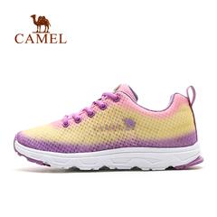 CAMEL骆驼户外情侣鞋 男女徒步慢跑网面透气鞋网布耐磨越野跑鞋