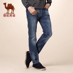 骆驼秋冬款牛仔裤 男 休闲直筒男裤 韩版男士长裤加绒牛仔