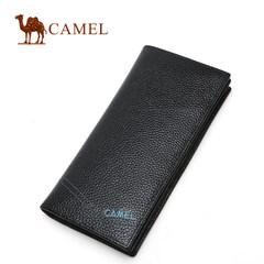 Camel骆驼 男士新款头层牛皮钱包 商务休闲长款皮夹