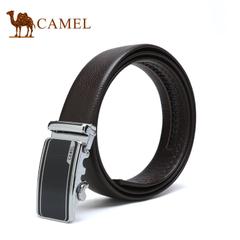 【新品】camel骆驼新款男士自动扣皮带牛皮腰带商务经典休闲