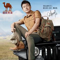 Camel/骆驼男装秋冬青年男士休闲裤 商务休闲棉质直筒中腰长裤男