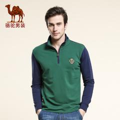 Camel/骆驼男装 2016秋季新款套头立领直筒长袖卫衣美式休闲卫衣