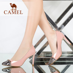 Camel/骆驼女鞋  时尚性感尖头牛漆皮高跟单鞋 春新款