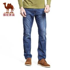 Camel/骆驼男装2016秋季新款微弹中腰修身牛仔裤商务休闲长裤