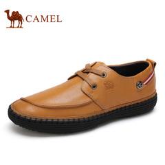 Camel/骆驼男鞋 春季 商务休闲牛皮 系带 男潮鞋