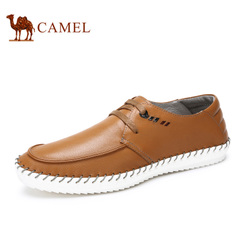 Camel/骆驼男鞋春季时尚系带日常休闲鞋皮鞋男
