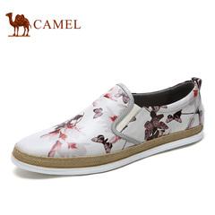 camel骆驼男鞋 时尚春季舒适乐福鞋低帮板鞋休闲鞋潮流板鞋男