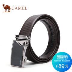 camel骆驼皮带 男士商务休闲牛皮自动扣腰带
