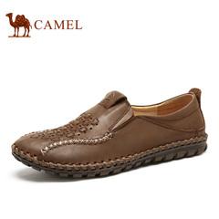 Camel/骆驼男鞋 春季 牛皮缕空皮鞋男休闲男鞋