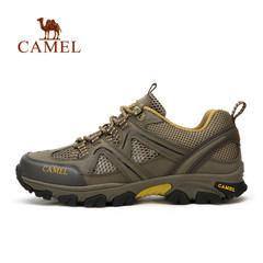 【情侣款】Camel骆驼男鞋 2017春夏牛皮防滑耐磨情侣户外徒步鞋