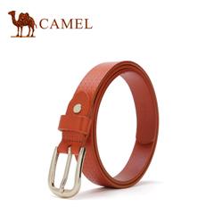 【新品】骆驼2016新款女士皮带 时尚休闲腰带 简约女款针扣腰带