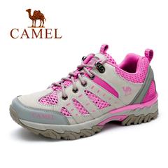 【情侣鞋】Camel/骆驼男鞋2016夏季新款牛皮透气运动户外休闲鞋
