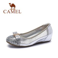 【内增高】Camel骆驼女鞋 时尚优雅圆头蝴蝶结内增高单鞋2016新款