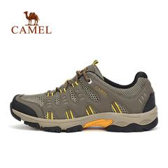 【2016新品】CAMEL骆驼户外情侣款徒步鞋 休闲旅途低帮透气徒步鞋