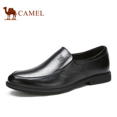 Camel骆驼男鞋 2017春夏商务正装套脚办公室皮鞋男德比鞋
