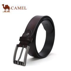 【新品】camel骆驼皮带 2016新款男士休闲皮带 牛皮合金针扣腰带