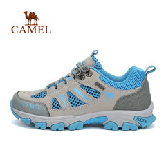 CAMEL骆驼户外情侣款款徒步鞋 男女款耐磨透气徒步鞋低帮鞋
