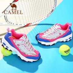 【2016新品】CAMEL骆驼鞋女 户外越野跑 时尚厚底熊猫鞋运动潮鞋