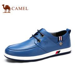 Camel/骆驼男鞋春季 时尚休闲 牛皮系带男鞋低帮平跟休闲