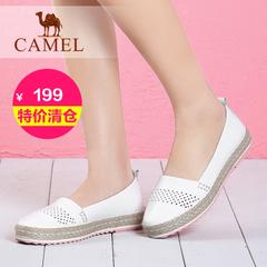 【特价清仓】camel骆驼女鞋 2016夏季单鞋舒适休闲平跟小白鞋单鞋
