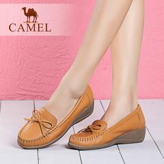 【新品】camel骆驼女鞋2016夏季新款日常舒适牛皮乐福鞋休闲单鞋