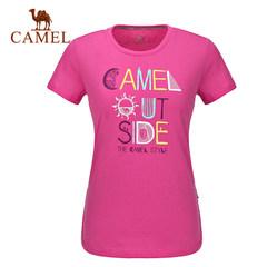 CAMEL骆驼男女款 休闲圆领T恤春夏情侣T恤舒适面料旅行出游休闲T
