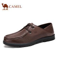 【断码清仓】camel骆驼男鞋舒适休闲牛皮打孔透气男鞋 爸爸鞋