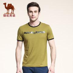 骆驼 夏款新品短袖青年T恤 圆领字母休闲欧美百搭T恤