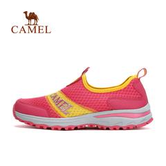 CAMEL骆驼户外情侣款徒步鞋 男女轻便透气网布吸汗徒步鞋