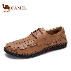 camel骆驼男鞋 手工编织日常休闲鞋透气男鞋夏季