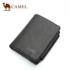 【清仓】Camel/骆驼男士短款钱包3折多卡位卡包牛皮竖款男钱夹