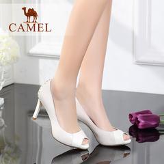 Camel/骆驼女鞋 时尚优雅 2016夏季新款鱼嘴超高跟通勤OL职业女鞋