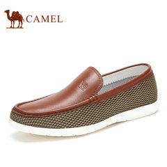 【特价清仓】Camel/骆驼男鞋夏季牛皮网布乐福鞋休闲男鞋