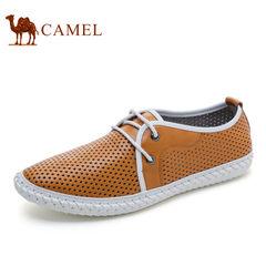 【特价清仓】Camel/骆驼男鞋夏季 牛皮透气休闲皮鞋男手工鞋